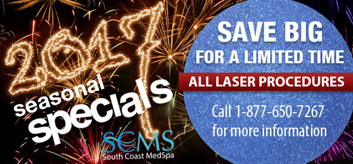 Big Savings on all laser procedures - call 1-877-650-7267 for more information