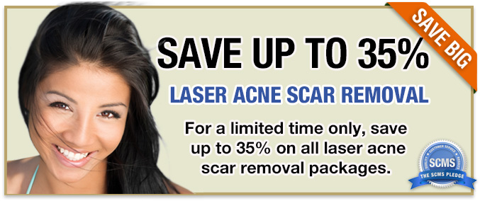 Save up to 35% off all laser acne scar removal packages