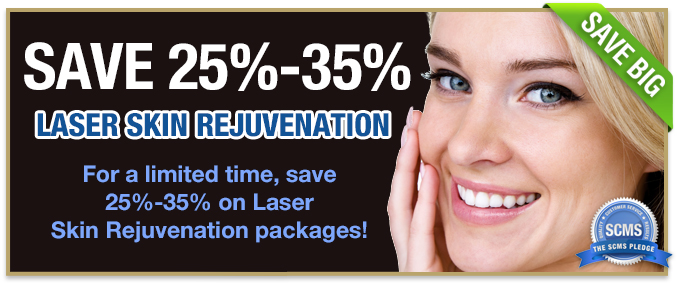 25 - 35% off laser skin rejuvenation packages