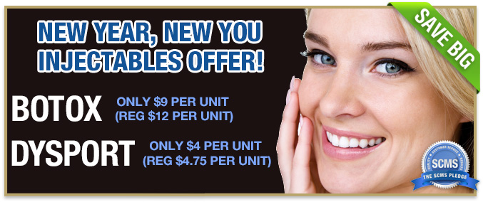 New Year, New You!!! Botox only $9 per unit, Dysport, only $4 per unit - Call 1-877-650-7267 for more information
