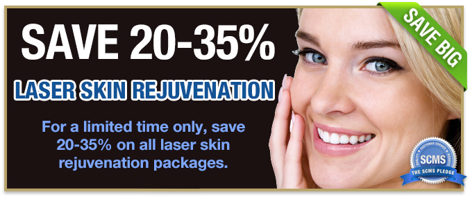 Save 20-35% on all laser skin rejuvenation packages