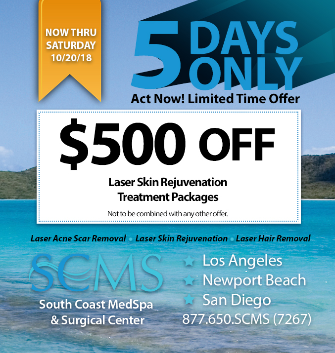 5 day sale - $500 off laser skin rejuvenation packages