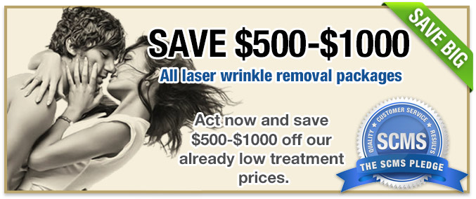 $500-$1000 off wrinkle removal