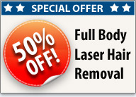 50% off full body laser hair removal