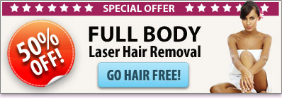 Full Body Laser Hair Remova - 50% off